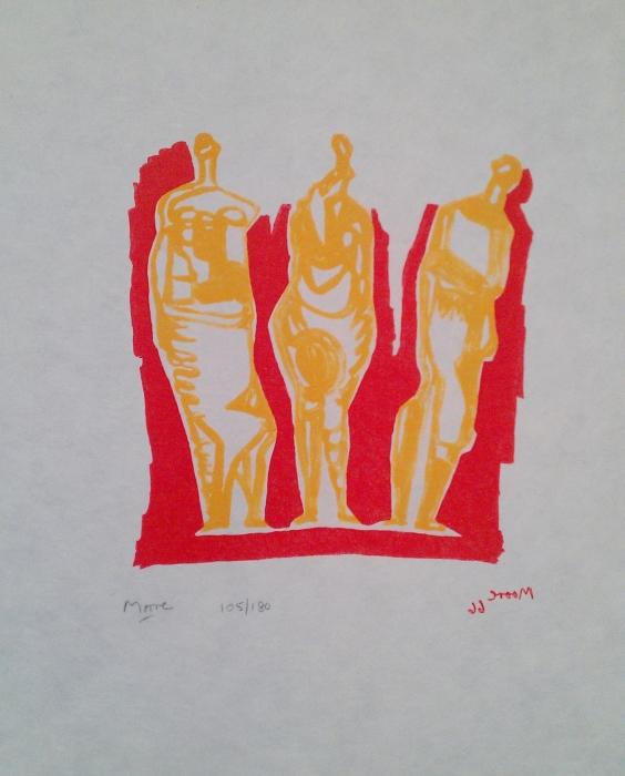 Three Standing Figures (Shelter Sketchbook)