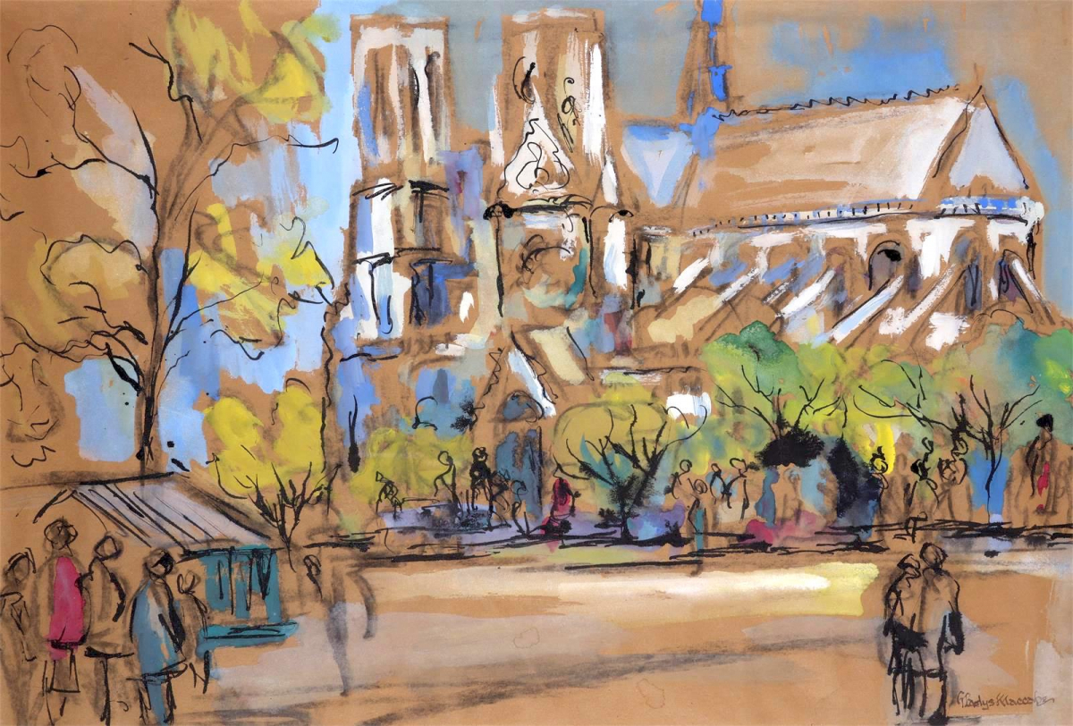 A View of Notre Dame, Paris