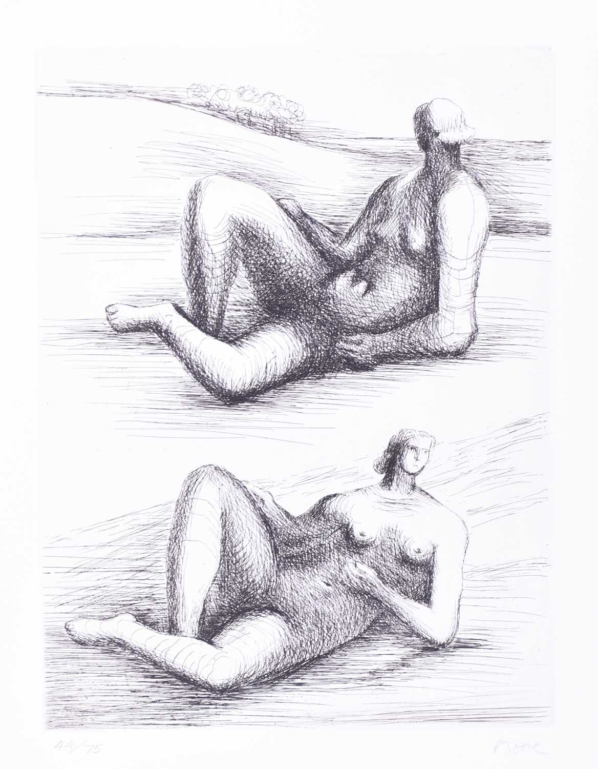 Two Reclining Figures.