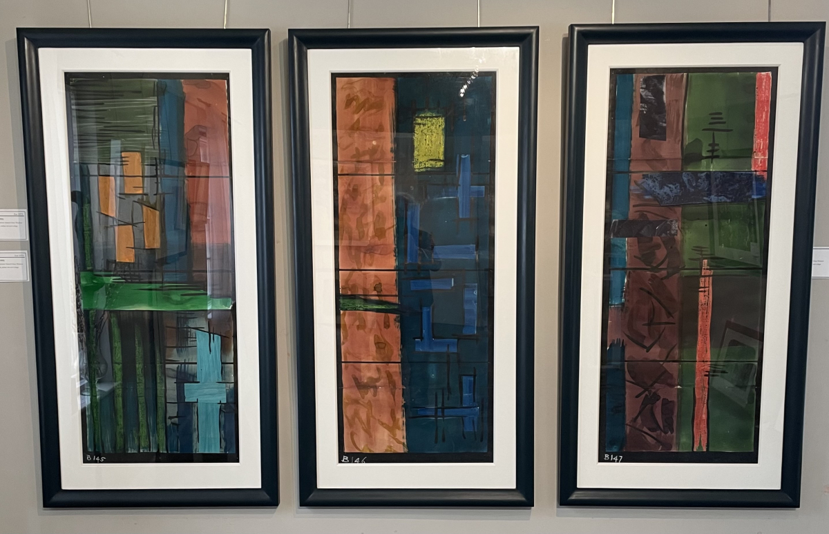 3 Original Cartoons for Coventry Cathedral stained glass windows