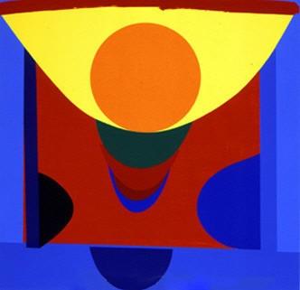 Malaga Blue and Orange