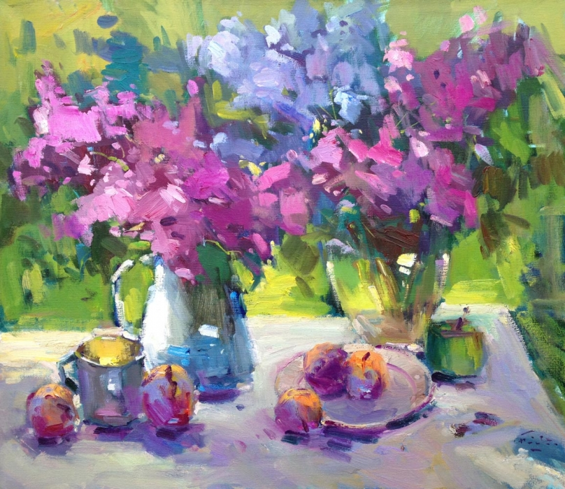Pink and Blue Lilacs