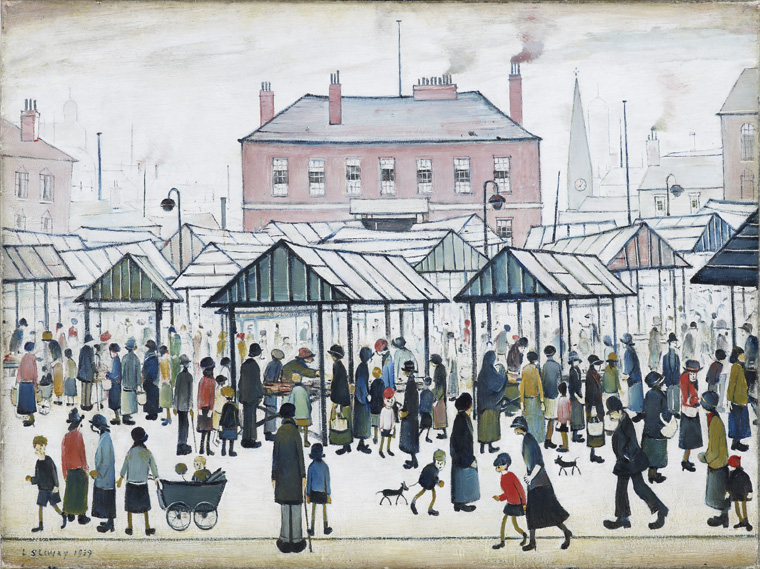 Market Scene in a Northern Town